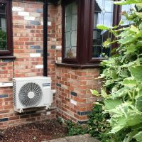 Domestic Hitachi air source heat pump - Devon